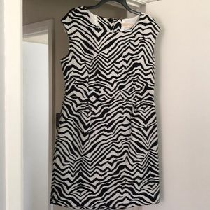 Michael kors zebra print dress cut out back